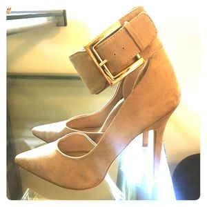 Forever 21 nude ankle strap heels